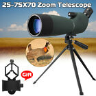 25 75X70 Waterproof Spotting Scope Zoom Binoculars Monocular w Tripod