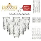 Drinking Glasses Whiskey Cups Set Beverages Water Party Entertainment Glassware