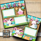 HAPPY EASTER 2 premade SCRAPBOOK pages paper piecing LAYOUT DIGISCRAP A0196