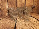 Vintage Ice Cream Parlor Sundae Dish Clear Glass w Ribbed Sides Scalloped-8 pcs