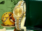 ROLEX WOMENS STEEL AUTOMATIC OYSTER PERPETUAL CHAMPAGNE DIAL WATCH 67193 C'91