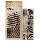 Bitty Grunge Clear Acrylic Stamp  Stencil Set by Tim Holtz Stampers Anonymous