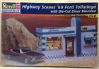 Revell 85-7803 Highway Scenes 1969 Ford Talladega W/ Die-cut Diorama 1:25 Kit