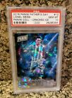 25 PSA 10 GEM MINT 2016 Panini Father's Day CRACKED ICE REFRACTOR Lionel Messi!