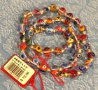 Murano Glass Beaded Necklacehand blown glass Italy Candy Art 18 Mixed Bright