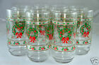 VINTAGE VICTORIAN CHRISTMAS ICE TEA/WATER GLASSES NIB SET OF 10 INDIANA GLASS