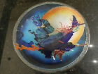Retired Peggy Karr Halloween Witch On Broomstick Bowl 10 7 8