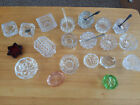 Mixed lot 20 Vtg Clear  Color open salt cellars FACETED cambridge SPOONS star