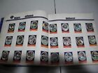 1972 Sunoco Football Stamp Complete Team Set LOT 24 CHICAGO BEARS BUTKUS + EX