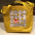 Fox TV Network Yellow Promo Tote Bag 2006 Simpsons Family Guy In Living Color