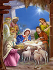The Wise Men at the Nativity Christmas 2 Sided Garden Flag 28 H x 40 W