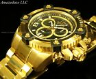NEW Invicta Men Reserve Grand Octane 18K Gold Plated Stainless Steel Swiss 8040
