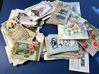 GREETINGS POSTCARD LOT OF 215 EARLY 1910S BEST WISHES CONGRATS ETC NICE