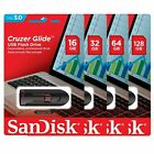 SanDisk 16GB 32GB 64GB 128GB 256GB Cruzer GLIDE USB 30 Flash Drive Retail Lot