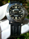 PANERAI PAM 24 STAINLESS STEEL SUBMERSIBLE AUTOMATIC 44mm MENs DIVE WATCH BOX/PP