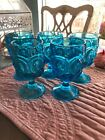 Lot of 5 Footed Water Goblet