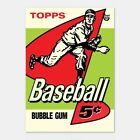 2018 Topps 80th Anniversary Wrapper 1958 Baseball Poster #'d to 1 Gold version!
