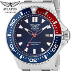 AVIATOR SPECIAL OPS Pepsi Diver Watch 200m 20 ATM Army Military Blue Wristwatch