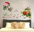Removable Wall Sticker Peony Vine Wall Decal Mural Living Room Bedroom Home deco
