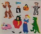 2 Sheets Grossmans TRICK OR TREATERS Halloween Stickers Vintage