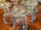 Vintage Mid-Century  Large Glass Ice Cream Sherbet Cups Dishes - Lot of 6
