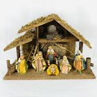 Vintage Nativity Scene Set Christmas Holiday 8 Pc Made In Italy EUROMARCHI 17x11