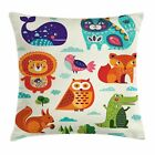 East Urban Home Zoo Ethnic Native Ornate Fun Square Pillow Cover