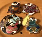 Lot 4 Barbara Lavallee Cloisonne Brooch Pin Native Inuit Dancing Weaving Artique