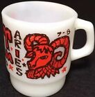 Vtg AH King Aries Zodiac Sign Advertising Coffee Cup Mug