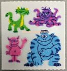 Sandylion Vintage Stickers FUZZY MONSTERS Module Square LQQK CUTE CHEAP