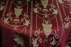 Jacquard Fabric Upholstery and Drapery Color Burgundy By the Yard 58 wide
