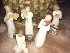 Lot of 5 Willow Tree Figurines Angels In Great Condition