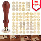 Personalized Sealing Wax Stamps Kit Custom Wedding Invitation Wax Seal Stamp