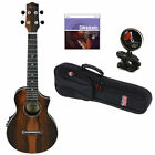 Ibanez UEW13MEE Acoustic Electric Concert Ukulele Brown W StringsTuner
