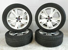 06 07 08 09 Saab 9 5 17x75 17 5 Double Spoke Wheel Rim  Tire Set OEM Alu 74