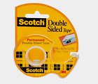 Scotch DOUBLE SIDED Tape Permanent Photo Safe 1 2 W x 450 L Clear CLIP 137