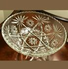 Vintage EAPC Anchor Hocking Star of David Glass Serving  Bowl 10inch Clear.