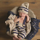US Sell Newborn Baby Boy Crochet Knit Costume Photo Photography Prop Outfit Set