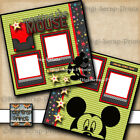 DISNEY MEET THE MOUSE 2 premade scrapbook pages paper piecing DIGISCRAP A0206