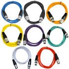 Seismic Audio 8 Pack of Colored 6 Foot XLR Patch Cables 6 Mic Patch Cords