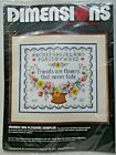 Dimensions 3047 Friends Are Flowers Sampler Stamped Cross Stitch Kit 1984