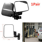 2PCS Flat Mirror Safety Rearview Mirror Electrical Tricycle Pedicab Black