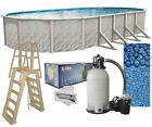 Lake Effect Meadows 12 x 24 x 52 Oval Above Ground Swimming Pool Complete Kit