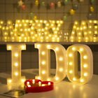Remote control Alphabet Letter Lights LED Light Up White Plastic Letters Stand
