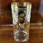 1960's CULVER 22K Gold Chantilly Floral Highball Glass Hollywood Regency