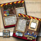 WIZARDING WORLD OF HARRY POTTER UNIVERSAL STUDIOS premade scrapbook pages A0211