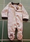 CARTERS Boys Size Preemie Super Cute Monkey Sleeper One Piece Very nice