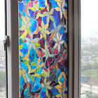 Static Cling Stained Frosted Flower Glass Window Door Film Sticker Decoration