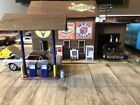 HO Scale Custom Built, Painted, Weathered Gas Station & Accs. Scratch Built.