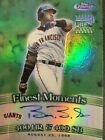 2001 BARRY BONDS TOPPS FINEST FINEST MOMENTS REFRACTOR AUTO AUTOGRAPH #FMA-BB